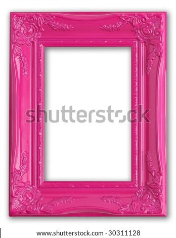 Pretty pink picture frame.