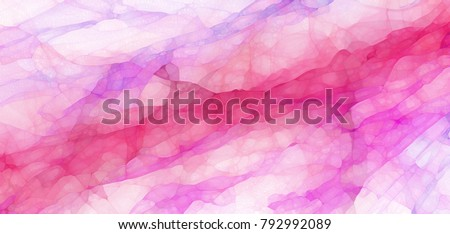 pretty purple and pink marbled glassy texture design with abstract watercolor style splashes and blotches in soft abstract background