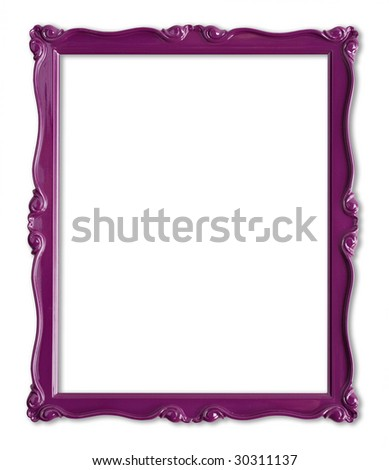 Pretty purple picture frame.