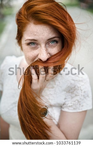 Think, that pretty redhead teen entertaining