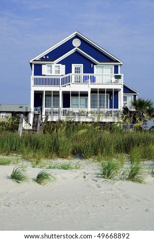 Pretty Rental Home On The Beach Stock Photo 49668892 : Shutterstock