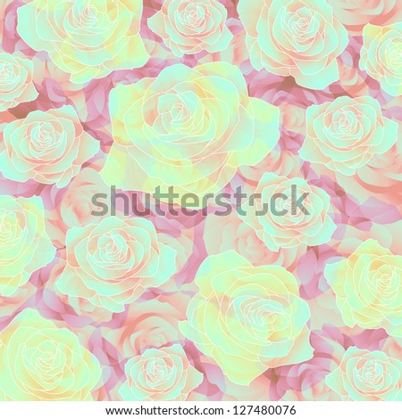 Pretty rose background - stock photo