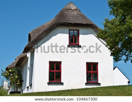 pretty rural countryside cottage in europe