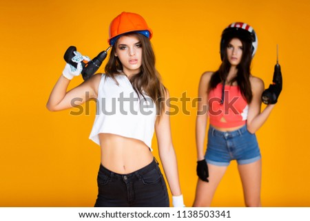 Remarkable, rather Girl naked in a construction workers uniformm are not