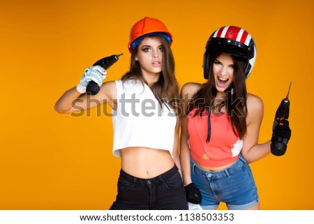 Pity, that Girl naked in a construction workers uniformm agree