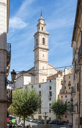 Pretty square in the town of Bocairent, in the province of Valencia, Valencian Autonomous Community, Spain