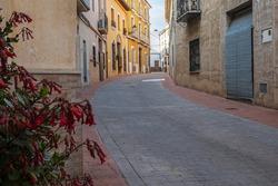 Pretty street in the Valencian town of Ador, in the La Safor region.