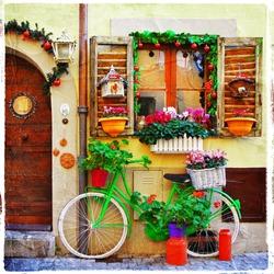 pretty streets of small italian villages