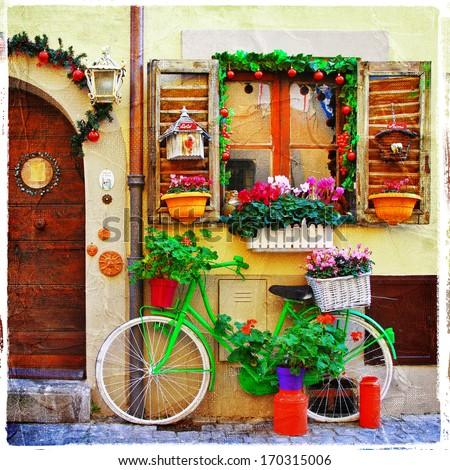 pretty streets of small italian ...