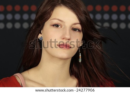 girl fashion model looking