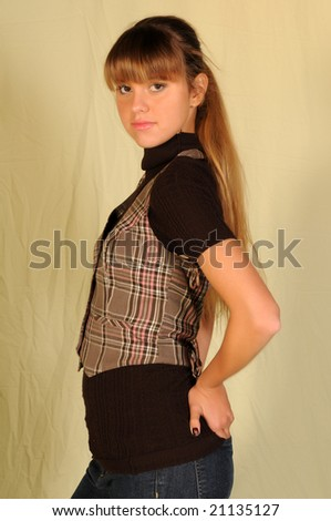 pretty girls with pretty hair. stock photo : Pretty teenage