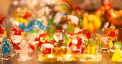 Pretty tiny Christmas glass figurines