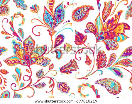 Shutterstock Pretty vintage feedsack pattern in flowers, paisley. Millefleurs. Floral sweet flores seamless background for textile, covers, fabric, wallpapers, print, gift wrap, scrapbooking,  decoupage, quilting.
