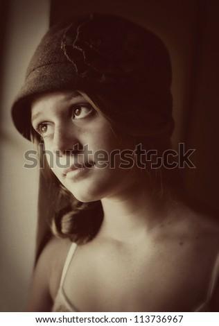 Pretty vintage teen girl
