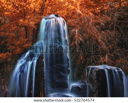 pretty waterfalls toned with a...
