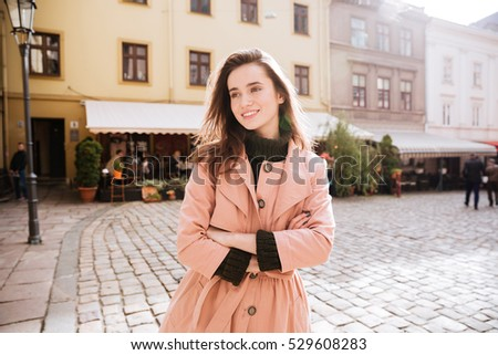 pretty woman in warm clothes
