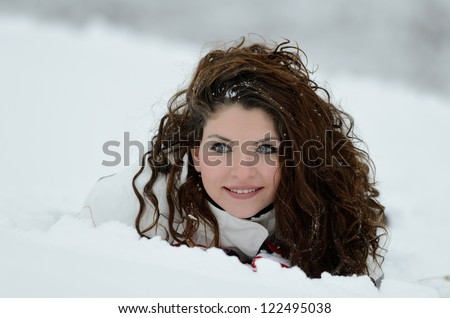 pretty woman portrait outdoor