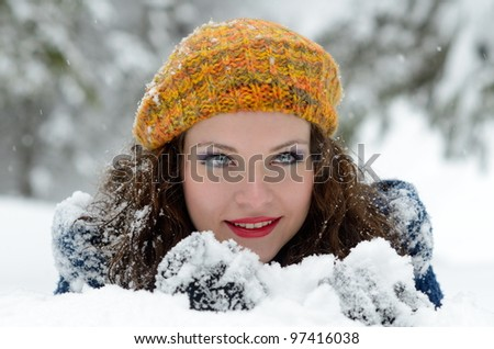 pretty woman portrait outdoor
