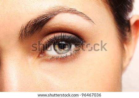 Pretty woman's eye close up