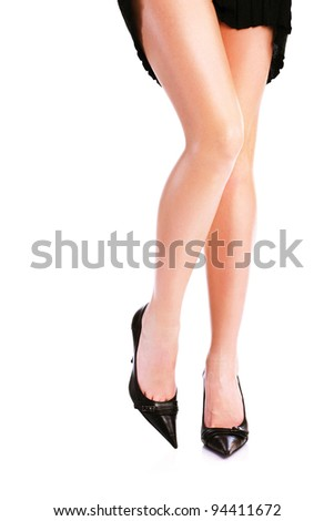 Pretty woman's legs and high heels
