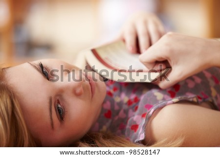 pretty woman with book - stock photo