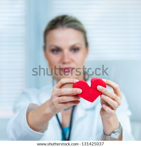 Pretty Young Female Doctor Is Showing a Broken Heart in Ambulance