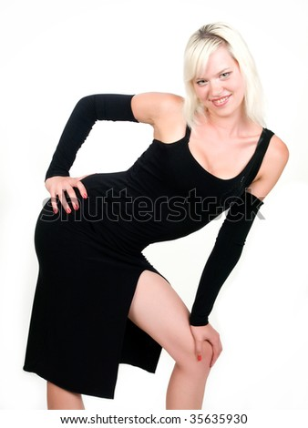 Pretty Young Girl In A Sey Seducing Pose Stock