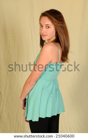 pretty girls with pretty hair. stock photo : Pretty young