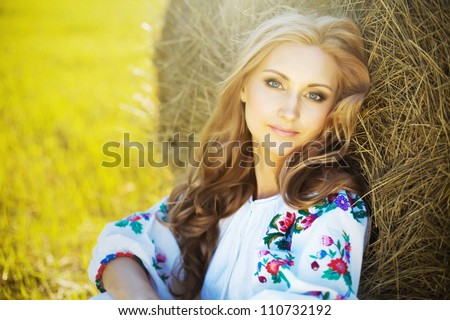 Pretty young woman in summer