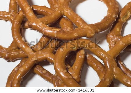 Pretzels on a white background