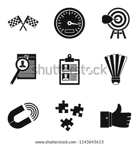 Prevail icons set. Simple set of 9 prevail icons for web isolated on white background