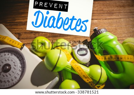 Prevent diabetes against indicators of healthy lifestyle Stock photo ©