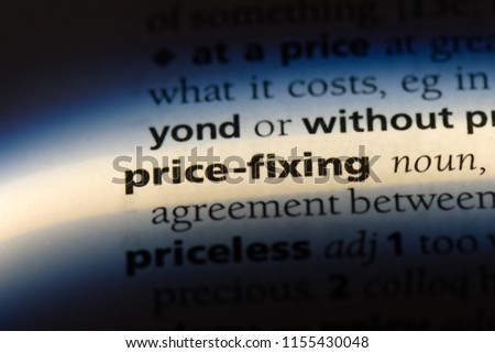 price fixing word in a dictionary. price fixing concept. #1155430048
