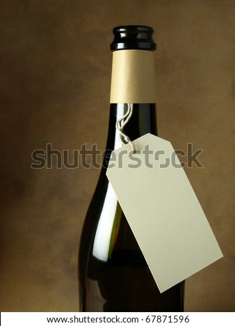 Price tag for a bottle of wine