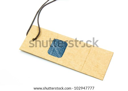 Price tag isolated