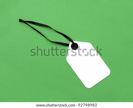 Price Tag label isolated on green background