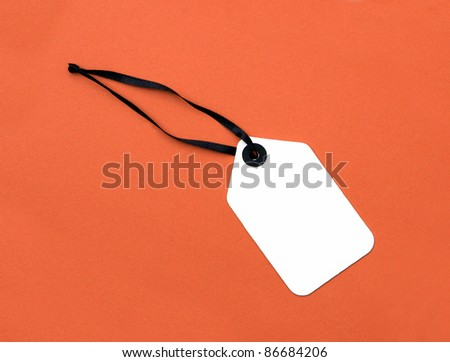 Price Tag label isolated on orange background