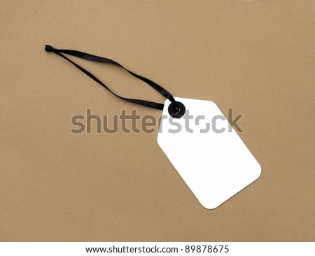Price Tag label isolated on plain brown background
