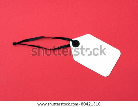 Price Tag label isolated on red background