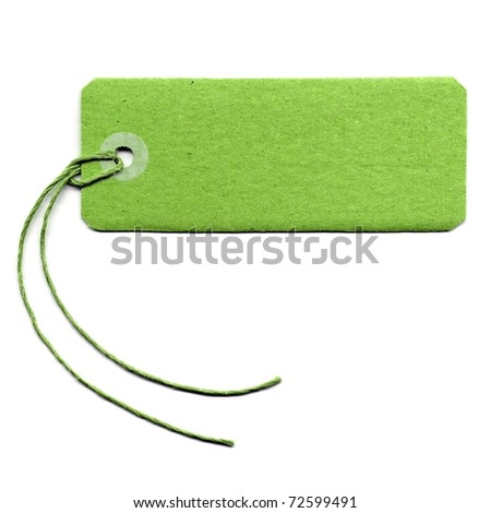 Price tag or address label with string - stock photo