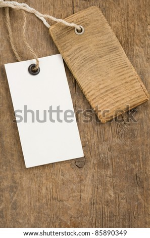 price tag over wood background texture