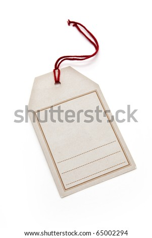Price Tag with white background