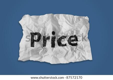 Price word print on paper #87572170