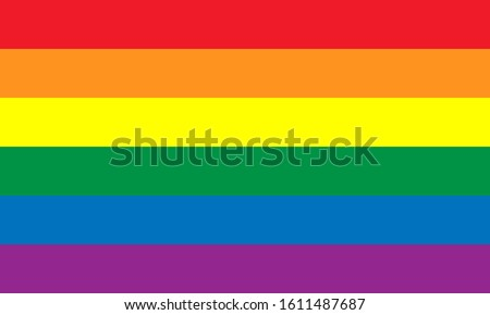 Pride Celebrating LGBT culture symbol. LGBT flag design.