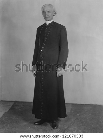 Priest in cassock