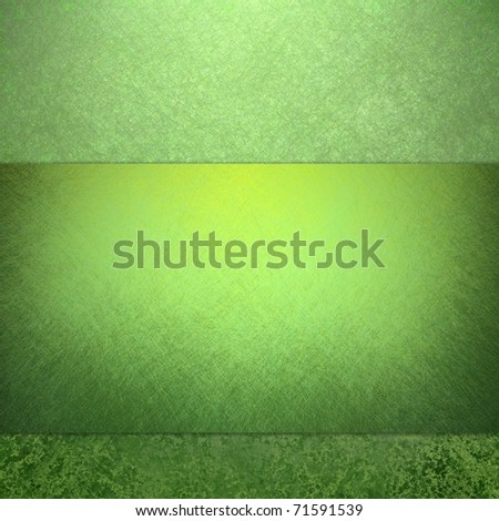 primary green background with bright lighting, grunge textured, layout design, and stripe for copy space to add your own text, title, or image, great for St. Patricks day, spring and summer layouts