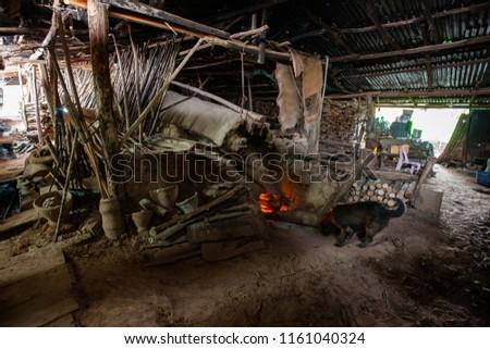 Primitive technology, Termite clay kiln. #1161040324