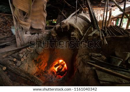 Primitive technology, Termite clay kiln. #1161040342