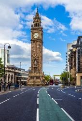 Prince Albert Memorial Clock at Queen's Square, Belfast Clock tower, Northern Ireland