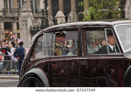 Prince Charles of Wales arriving at Westminster Abbey for the royal wedding of Prince William & Kate Middleton. April 29, 2011  London, UK Picture: Paul Smith / Featureflash - stock photo